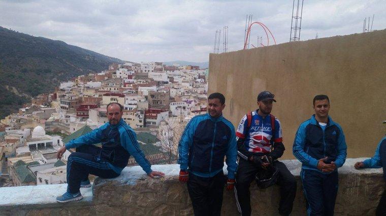 ASCM,Cyclotourisme N°1 au Maroc. la sortie : Moulay Driss Zerhoun et la ville antique du Maroc (VOLUBILIS) ..80km