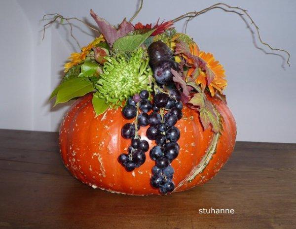 Couleurs d 39 automne art floral bouquets et compositions florales de - Composition florale automne ...