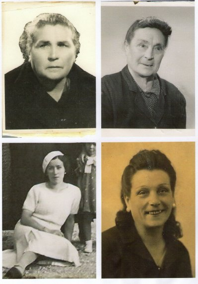Les 4 soeurs  NERONE. Maria Grosso epouse de leur frére Clement et livret de famille de 1914 DE Françoise..