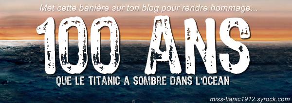 Le 15 Avril 1912 � 2:20 du matin le Titanic sombrait dans l'Atlantique. En 2012 le naufrage avait 100 ans...