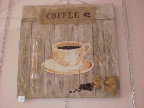 Tableau sur bois avec du vrai caf mes cr ations florals ma d co le home - Vieillir du bois avec du cafe ...