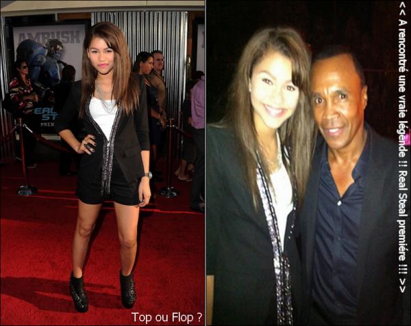". o2.lo.ll : Zendaya a assisté à la premiére de "" Reel Steel "" à Los Angeles."