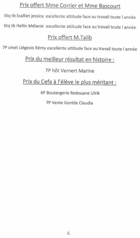 PROCLAMATION DES RESULTATS DE FIN D'ANNEE A L'ITMA