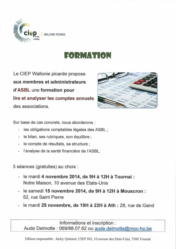 2014-11-04-TOURNAI - UNE FORMATION DU CIEP WALLONIE PICARDE