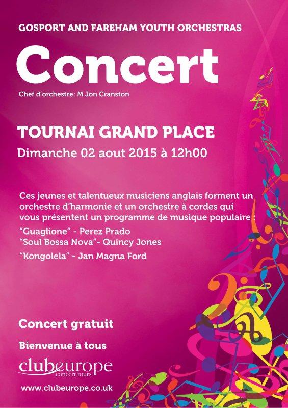 2015-08-02-TOURNAI GRAND-PLACE - CONCERT GRATUIT