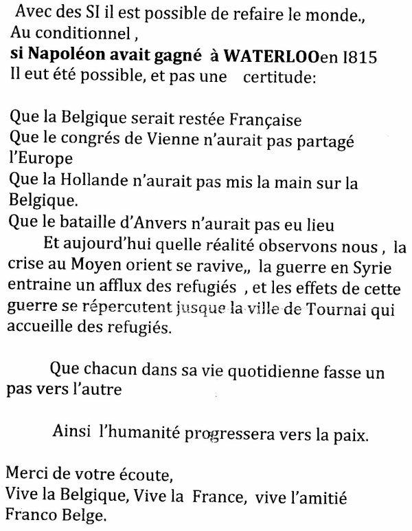 2015-09-20-TOURNAI - CEREMONIE D'HOMMAGE AU MONUMENT FRANÇAIS
