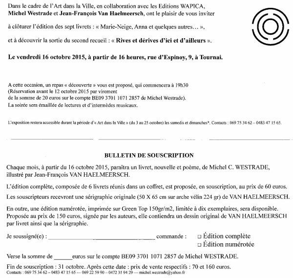 2015-10-16-TOURNAI - NOUVELLES ET POEMES