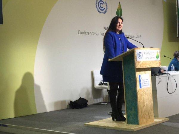 2015-12-07-MARIE_CHRISTINE MARGHEM A LA COP21