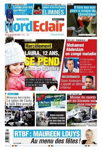 A LA UNE DE NORD ECLAIR DE CE MERCREDI 09.12