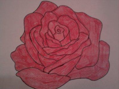 Dessin rose rouge ma vie est un monde imaginaire dont - Dessin de rose rouge ...