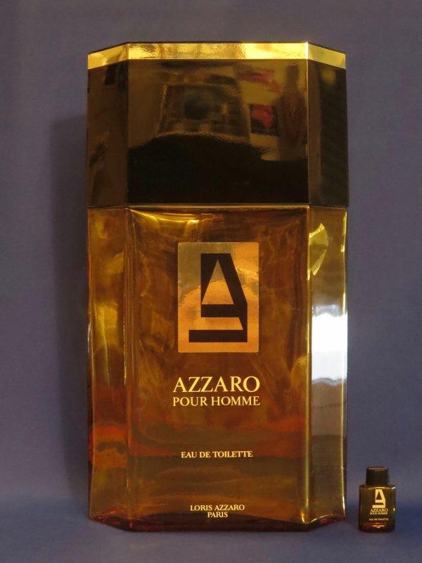 """✿   Azzaro  - AZZARO 9 POUR HOMME - Factice *g�ant"""" et sa mini  ✿"""