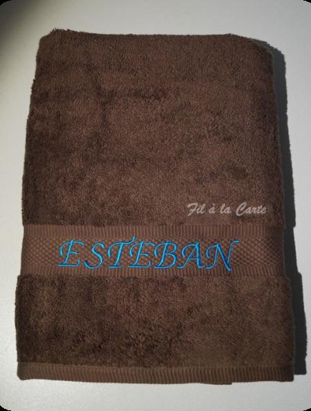 Personnalisation de serviettes de bain