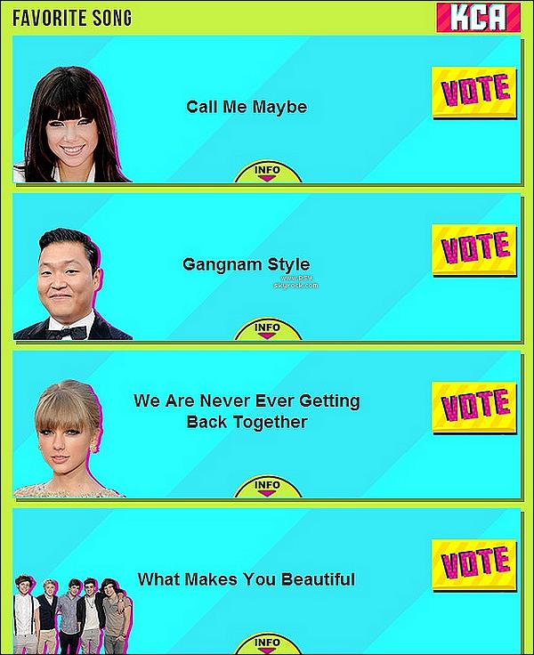 """.     • PSY est nomin� avec Gangnam Style au KCA 2013 dans la cat�gorie """"Favorite Song"""" !           ."""