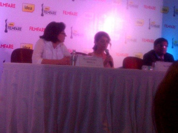 Asin @ Filmfare conference