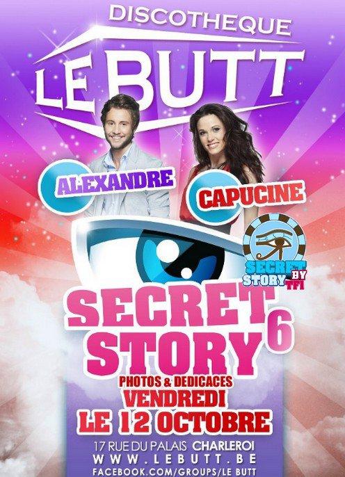 Secret story : Capucine et Alexandre au Butt le 12 octobre