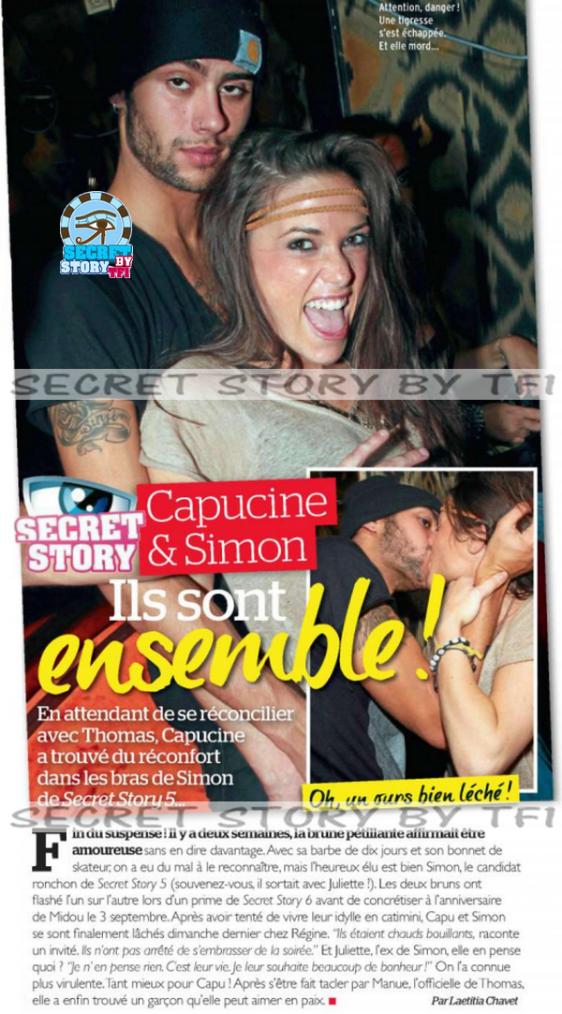 Secret story : Capucine et Simon, ils sont ensemble !