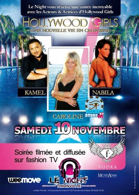 Secret story : Caroline au Night de Thionville le 10 novembre