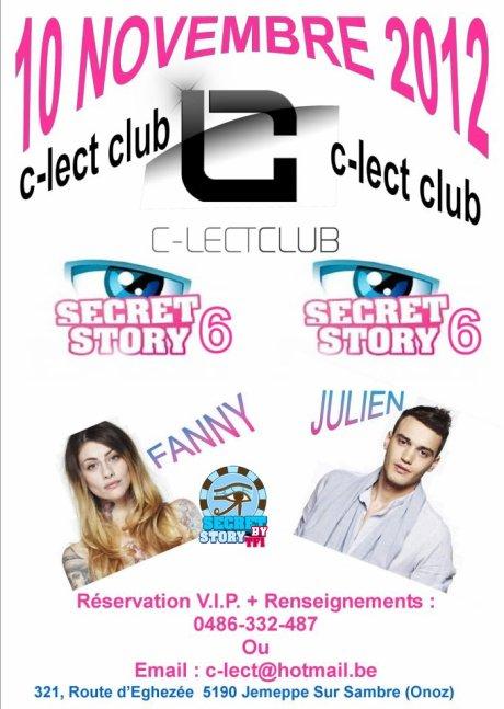 Secret story: Julien et Fanny au C-lect Club