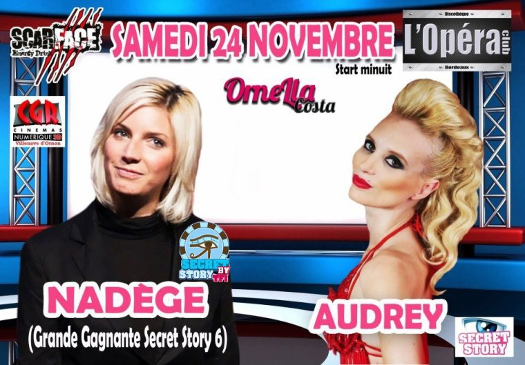 Nadège et Audrey à l'Opéra Club de Bordeaux le 24 novembre