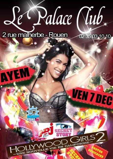 Ayem au Palace Club de Rouen le 7 decembre