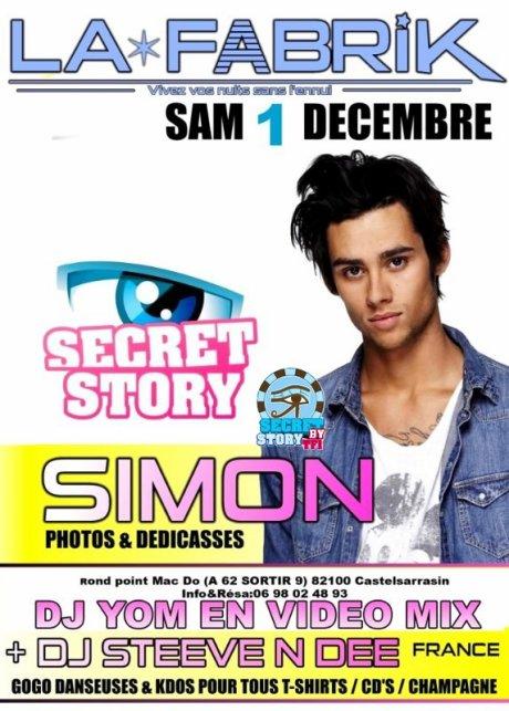 Simon à La Fabrik de Castelsarrasin (82) le 1er décembre