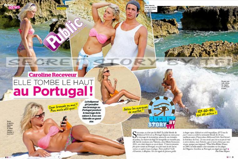 Caroline Receveur au Portugal