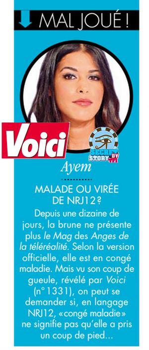 L'absence d'Ayem toujours dans la presse cette semaine !
