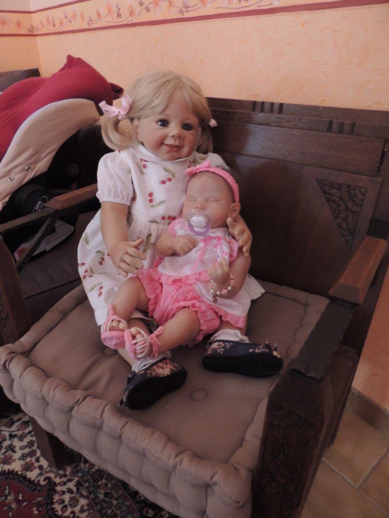 M�lanie et sa petite soeur Marisol