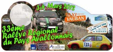 Rallye Pays Avallonnais 2012