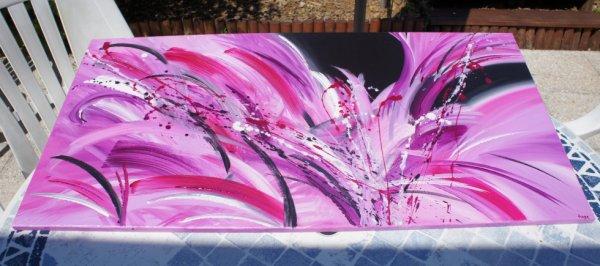 tableau rose fuschia