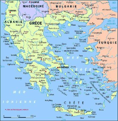carte crete geographie - Image