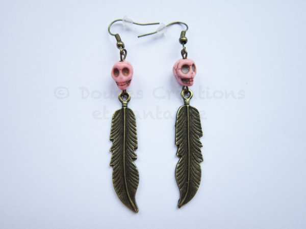 Boucles d'oreilles Plume aztèque