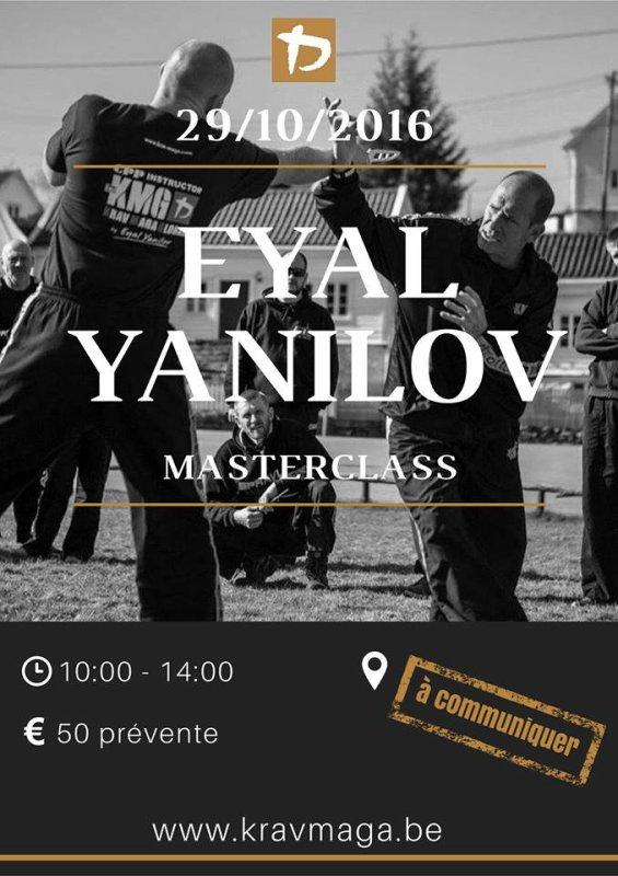 le prochain rendez vous avec Eyal /                                                                                    l'adresse du jour :  Hall omnisports - Rue des Olympiades, 2 - 6000 Charleroi