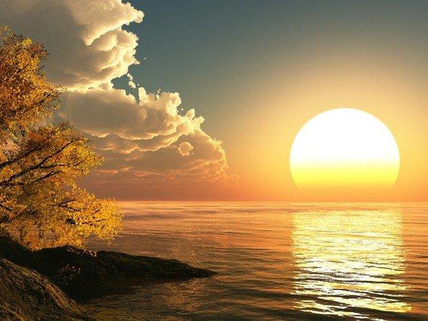 joli coucher du soleil