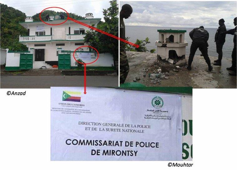La mosquée des Ahmadiya n'est pas détruite, mais elle est en reconversion