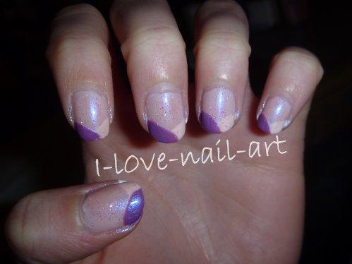 Nail Art Pailleté Violet et