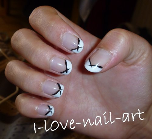 french noir et blanc blog de i l0ve nail art. Black Bedroom Furniture Sets. Home Design Ideas