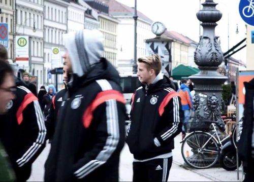 Publicité avec l'équipe d'Allemagne (Making off+photo) - MarcoReus