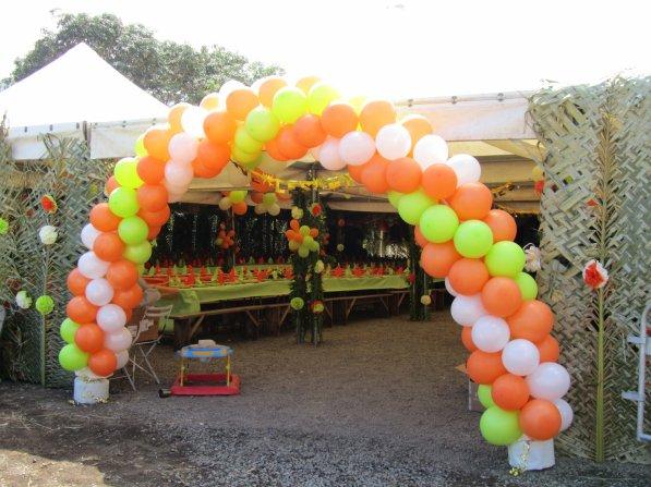 Arche de ballon pour un mariage haut en couleur la deco c 39 est ma passion - Comment faire une arche ...
