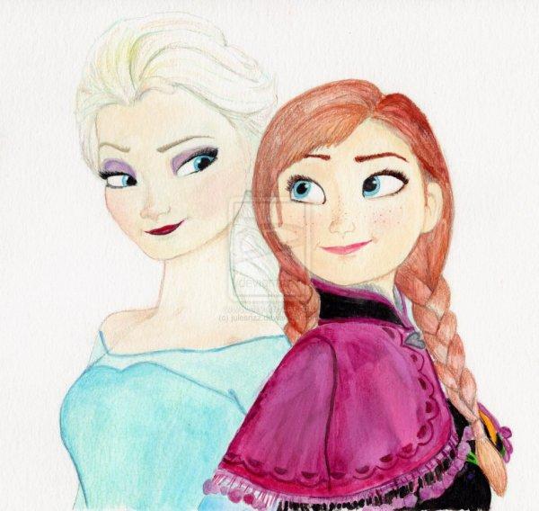 Jes essayer de dessiner elsa et anna blog de ludmila235 - Comment dessiner elsa ...
