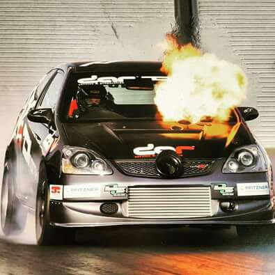 Ctr turbo drag burn on fire