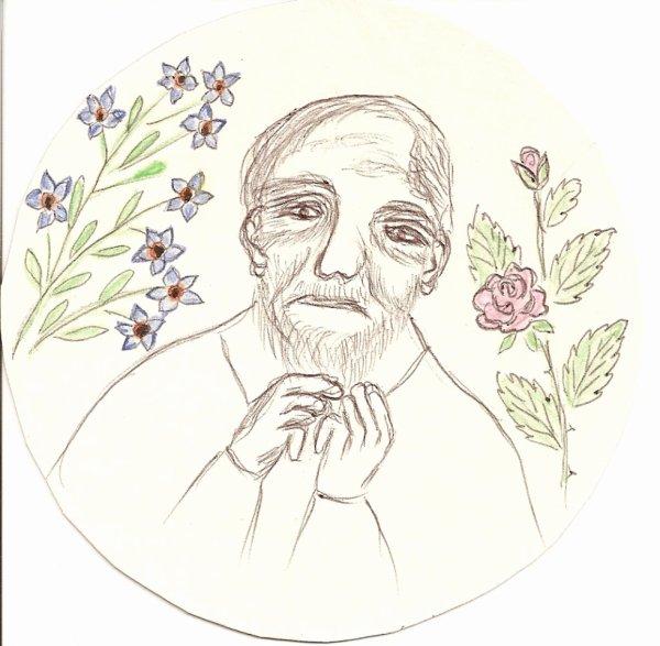 dessin de ma belle-m�re 86 ans(d�c�d� le 6 janvier 2011)interdit de prendre