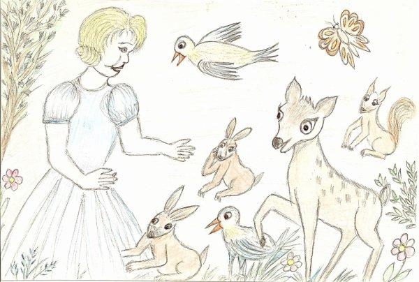 dessin de ma belle-mére 86 ans décédé  le 6 janvier 2011(c'est un hommage)
