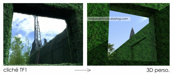 Une partie du Jardin fix� gr�ce aux photos officielles de TF1...