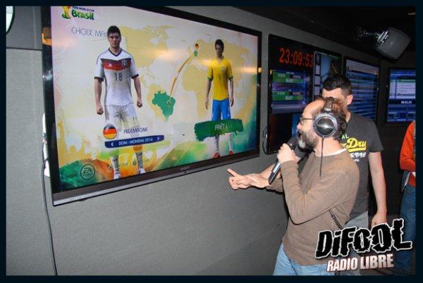 Photo du tournoi Fifa coupe du monde dans le studio de Skyrock