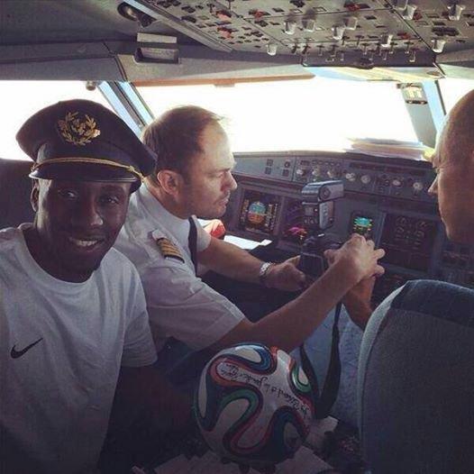 Le commandant de bord c'�tait Blaise ! #CM2014