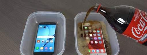 VIDEO - Un iPhone 6S et un Samsung Galaxy S7 congel�s dans du Soda !