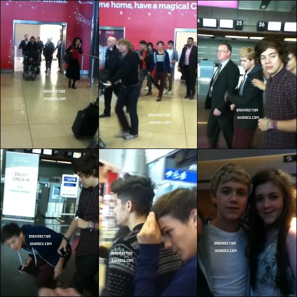 Vendredi 25 novembre : Aujourd'hui, Zayn, Harry, Louis, Niall et Liam ont été aperçu quittant l'aéroport de Dublin.