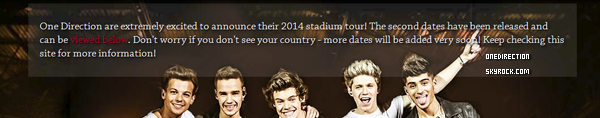 Nouvelles dates du Where We Are Tour 2014 !