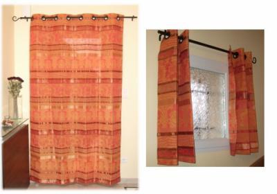 Doubles rideaux des lys de styles for Rideau de porte d entree exterieure